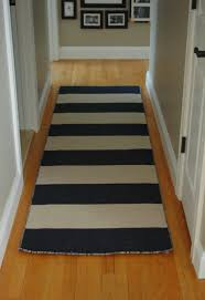 Striped Runner Rug Interior Short Black And White Striped Hallway Runner Rugs With