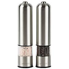 electric salt pepper mill grinder with light amazon com jagurds electric salt and pepper mill set premium