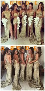 gold bridesmaid dresses gold sequin bridesmaid dresses 2017 wedding ideas magazine