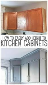 how to make cabinets appear taller how to easily add height to your kitchen cabinets