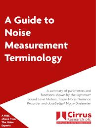 osha technical manual noise a guide to noise measurement terminology noise decibel