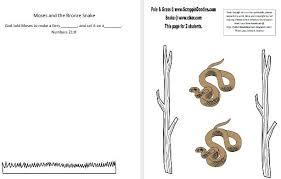 bible fun kids moses bronze snake