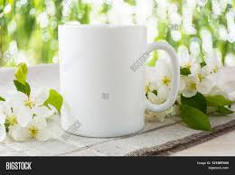 mug mockup with apple blossom mug mockup coffee cup template