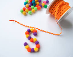 diy pom pom letter ornaments easy ornament merriment