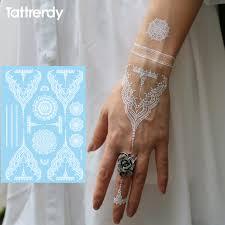 trendy fake tattoos henna weiße flash tattoo aufkleber wasserdicht