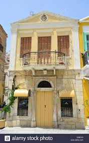 neoclassical house neoclassical house frontage on waterfront symi simi