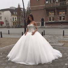 ball gown wedding dress with lace up back popular wedding dress 2017