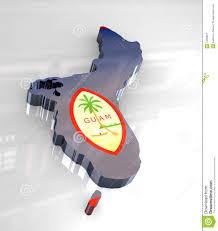 Guam Flag 3d Flag Map Of Guam Stock Illustration Image Of Territory 7406901