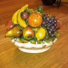 fruit centerpiece oval fruit centerpiece italian pottery outlet