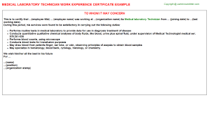 sample resume medical experience certificate format resume
