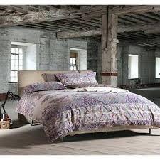 eikei home bohemian paisley duvet quilt cover light purple boho