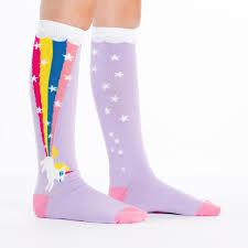 sock it to me youth rainbow blast knee high socks knock