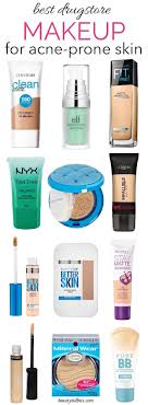 best makeup for acne e skin