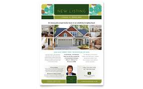 real estate agent flyer templates word u0026 publisher