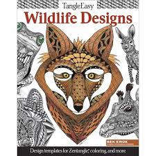 tangleeasy wildlife designs coloring book