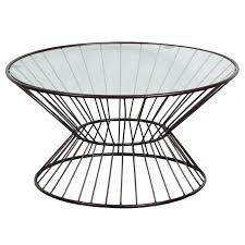 Wire Coffee Table Glass Top Wire Framed Coffee Table Free Shipping Today