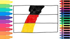 The Germany Flag How To Draw Germany Flag Drawing The German Flag Art Colors