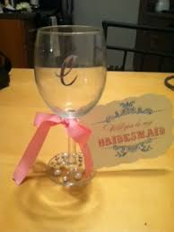 how to personalize a wine glass will you be my bridesmaid custom wine glasses wedding