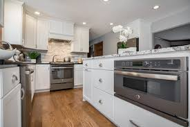 white kitchen cabinets with oak floors speed cook oven the counter white cabinets oak