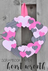 heart wreath scrapbook paper heart wreath typically simple