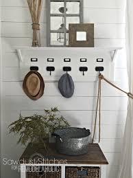 Entry Shelf Remodelaholic Pottery Barn Inspired Entry Organizer