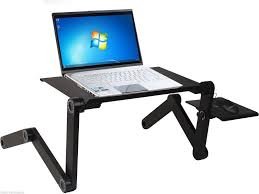 adjustable vented foldable laptop notebook pc table desk portable
