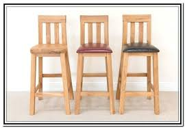 Wooden Breakfast Bar Stool Oak Bar Stools Finchy Co