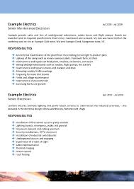 resume template for electrician offshore mining resume template 094