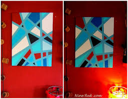 nine red how to geometric art