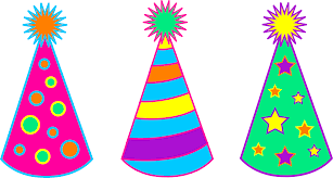 birthday hats colorful birthday party hats free clip