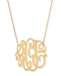 Block Monogram Necklace Personalized Jewelry Bracelets Rings U0026 Charms At Neiman Marcus