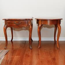 ethan allen end tables pair of ethan allen country french end tables ebth