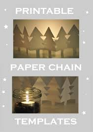 paper chain template for a snowman a tree a reindeer and an