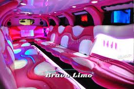 limousine hummer inside pink hummer h2 limo bravo limo