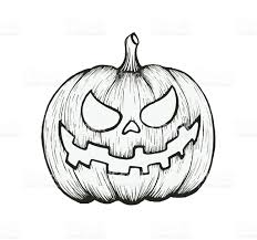 vector of hand draw halloween pumpkin stock vector art 488382668