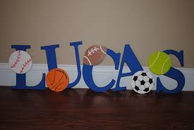 Decorative Wall Letters Nursery Decorative Sports Themed Wall Letters Diy Order Your Letters To