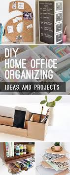 DIY Home Office Organizing Ideas  desk ideas  Pinterest  Desks