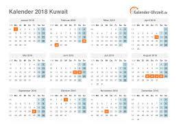 Kalender 2018 Feiertage Mv Feiertage 2018 Kuwait Kalender übersicht