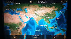 Qatar Airways Route Map by In Flight Review Singapore Airlines Business Class Airbus A380