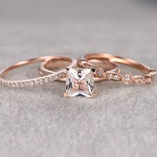 promise ring engagement ring and wedding ring set best diamond princess cut bridal sets products on wanelo