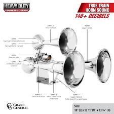 heavy duty deluxe train horn grand general u2013 auto parts
