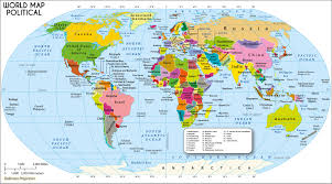 map of list of countries of the world continents world map with countries
