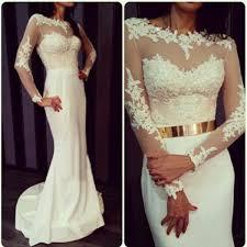 long sleeve prom dress lace prom dress mermaid prom dress