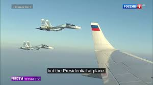 putin s plane wow russian su 30sm pilots flew below putin u0027s airplane while it