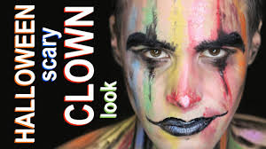 halloween scary rainbow clown make up tutorial youtube