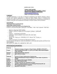 Qa Qc Inspector Resume Sample by Curriculum Vitae Doc