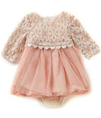 bonnie baby baby girls newborn 24 months lace popover to tulle