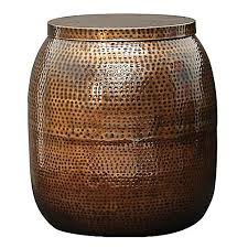 Zanui Side Table Copper Drum Side Table By Satara Zanui