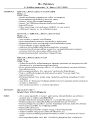 electrical engineering resume for internship electrical engineering intern resume sles velvet jobs