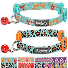 pet supplies reflective cat collar with bell set of 3 or 6